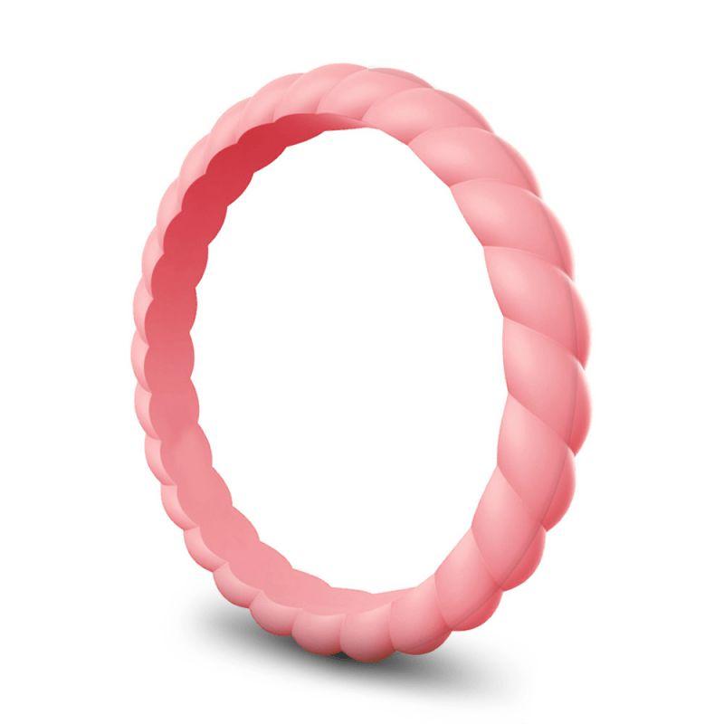 Силиконовое Кольцо Наборное Siring Fibre Жемчужно Розовый