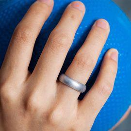 Силиконовое Кольцо Siring Sparkle Металлик Серебро